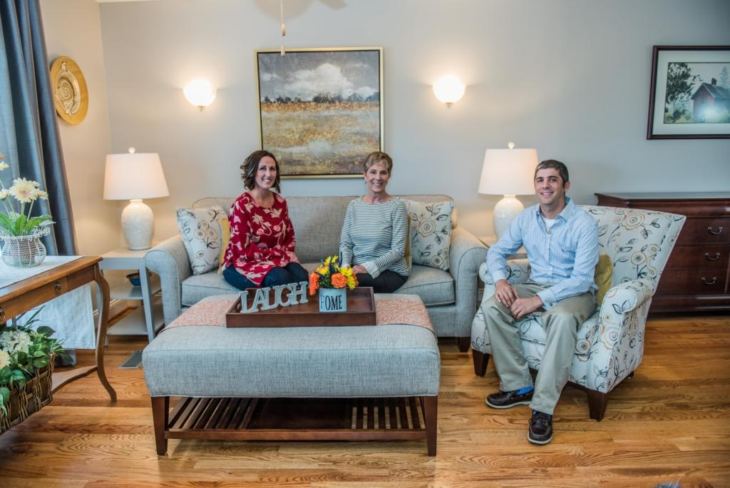 AdamMiller.Realtor - picture of Adam Miller, Paula Miller, and Tiffany Brooks which comprises the Miller Team at Coldwell Banker in Shepherdstown, West Virginia